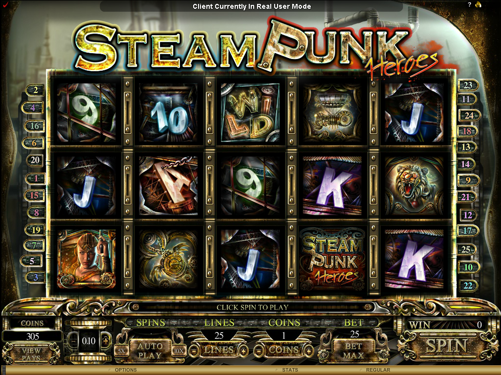 steam pppunk gameplay slot
